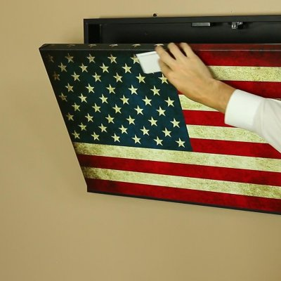 American flag wall safe Concealment flag
